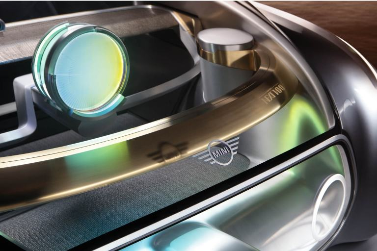Peek through the windscreen of the MINI VISION NEXT 100.