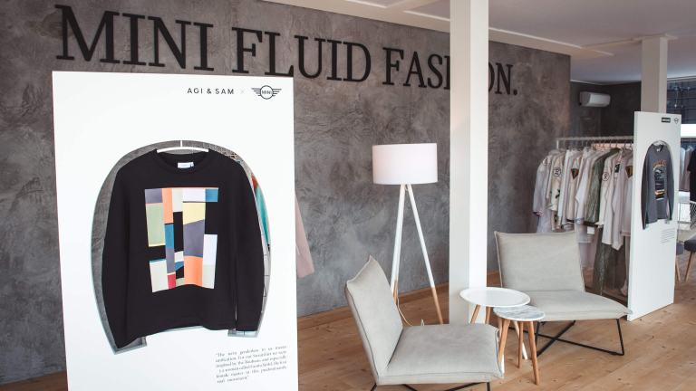 Sweatshirt by Agi & Sam for the MINI FLUID FASHION Capsule Collection collective at Pitti Uomo 90.