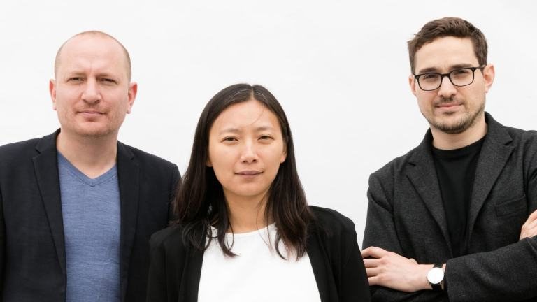 SO-IL principals Florian Idenburg, Jing Liu and Ilias Papageorgiou.
