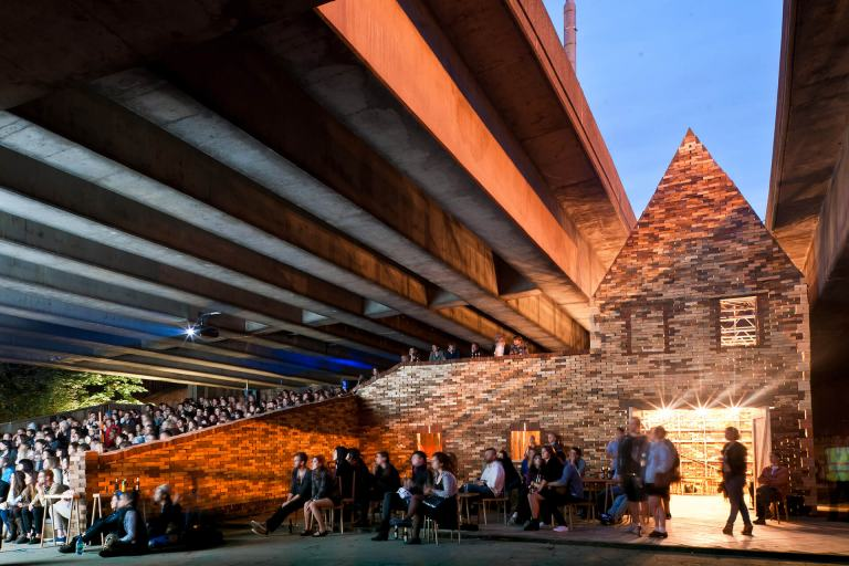Folly for a Flyover by London's Assemble collective transformed a disused motorway undercroft in Hackney Wick into an arts venue and new public space