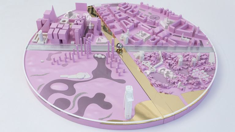 Urban model by SO – IL demonstrating fluid architecture as a response to a fundamental sense of uncertainty