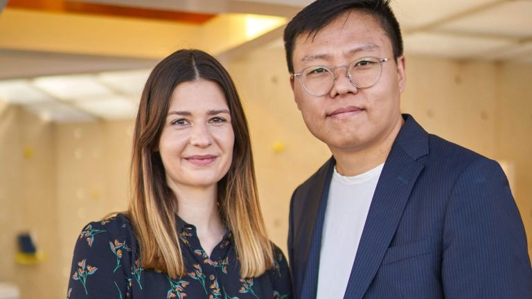 Penda architect, Sun Dayong, and Corinna Natter, designer at MINI LIVING