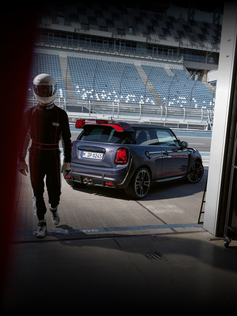 MINI John Cooper Works GP – side and rear view – track